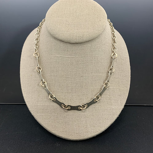 "17"" Sterling & Chain Necklace: Spoked Necklace"
