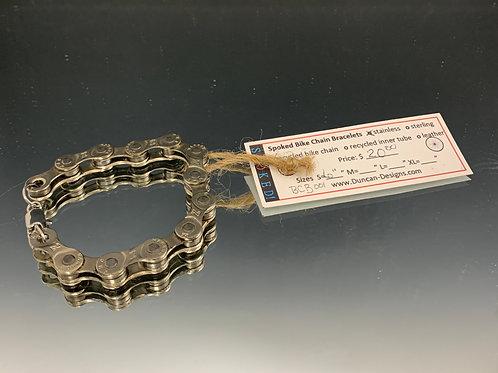 "Unisex 6"": Spoked Bike Chain Bracelet"