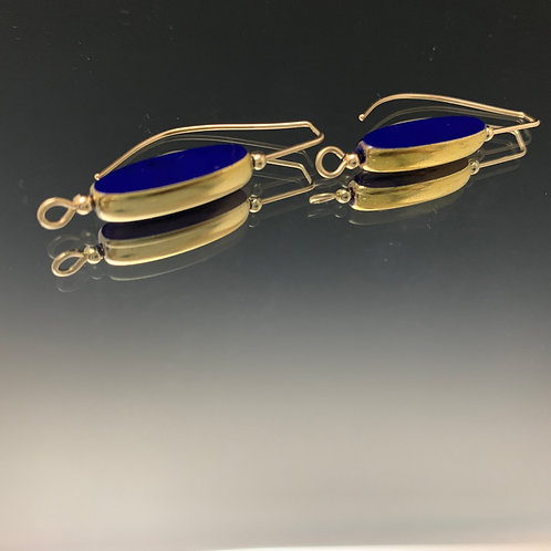 Dark Blue drops: 22K Vintage Glass