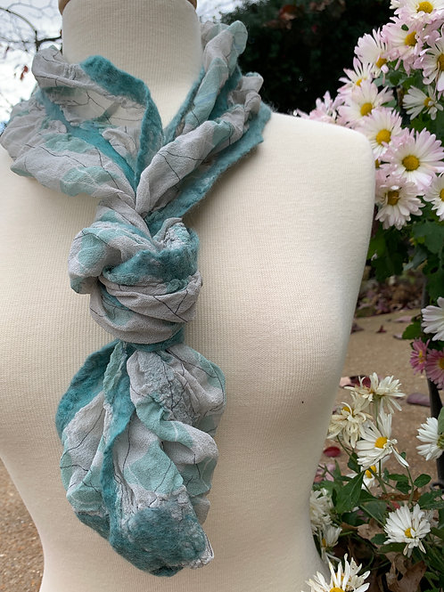 AGUA Leaves:  Silk in a Can Scarf