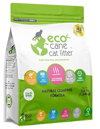 Eco cane catlitter vanaf 1.64 kg
