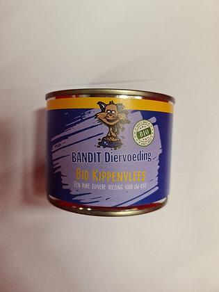 Bandit blikvoeding Kat 200 gram BIO Kip