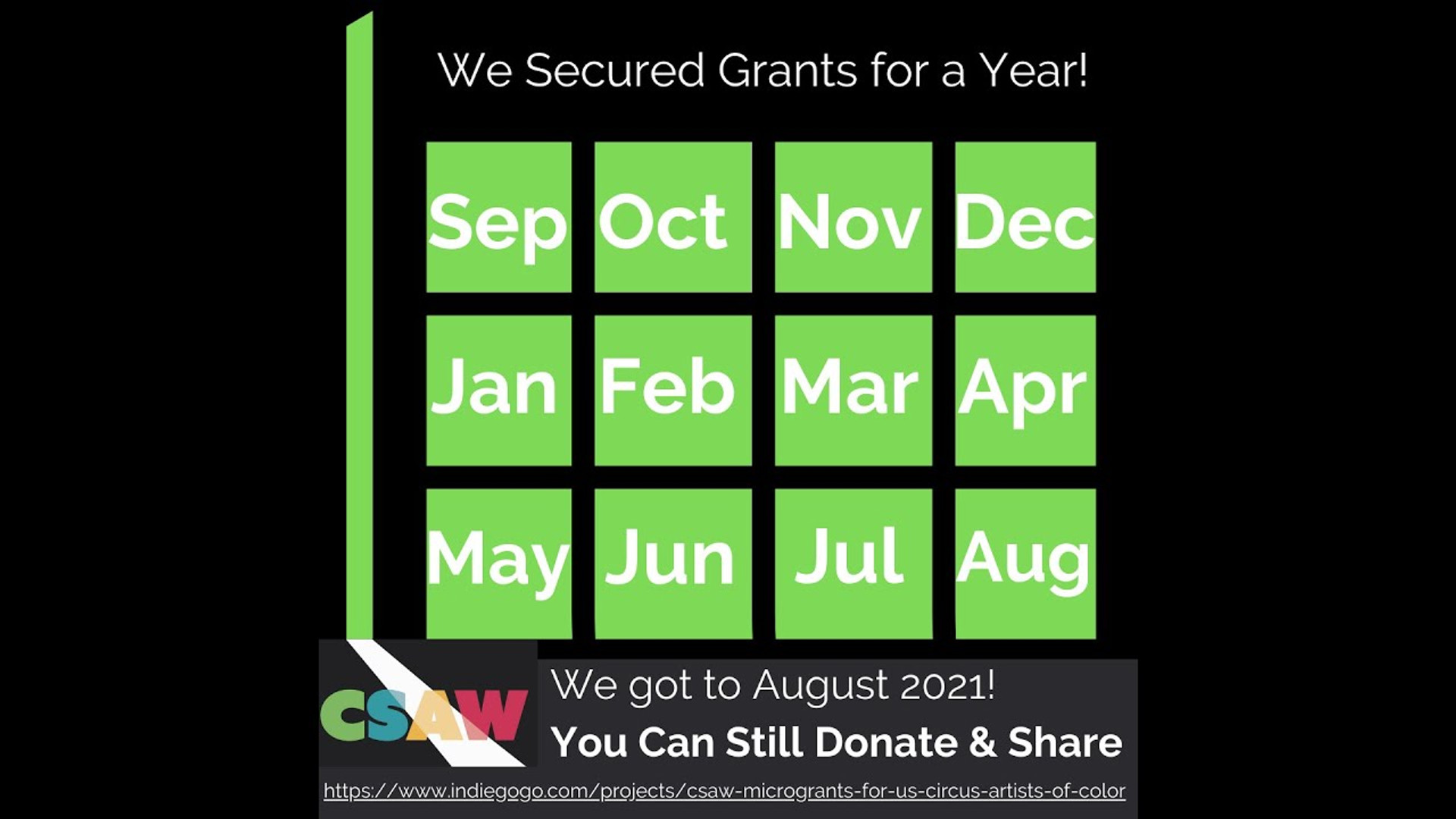 CSAW Microgrants Fundraiser - We Met Our Goal!