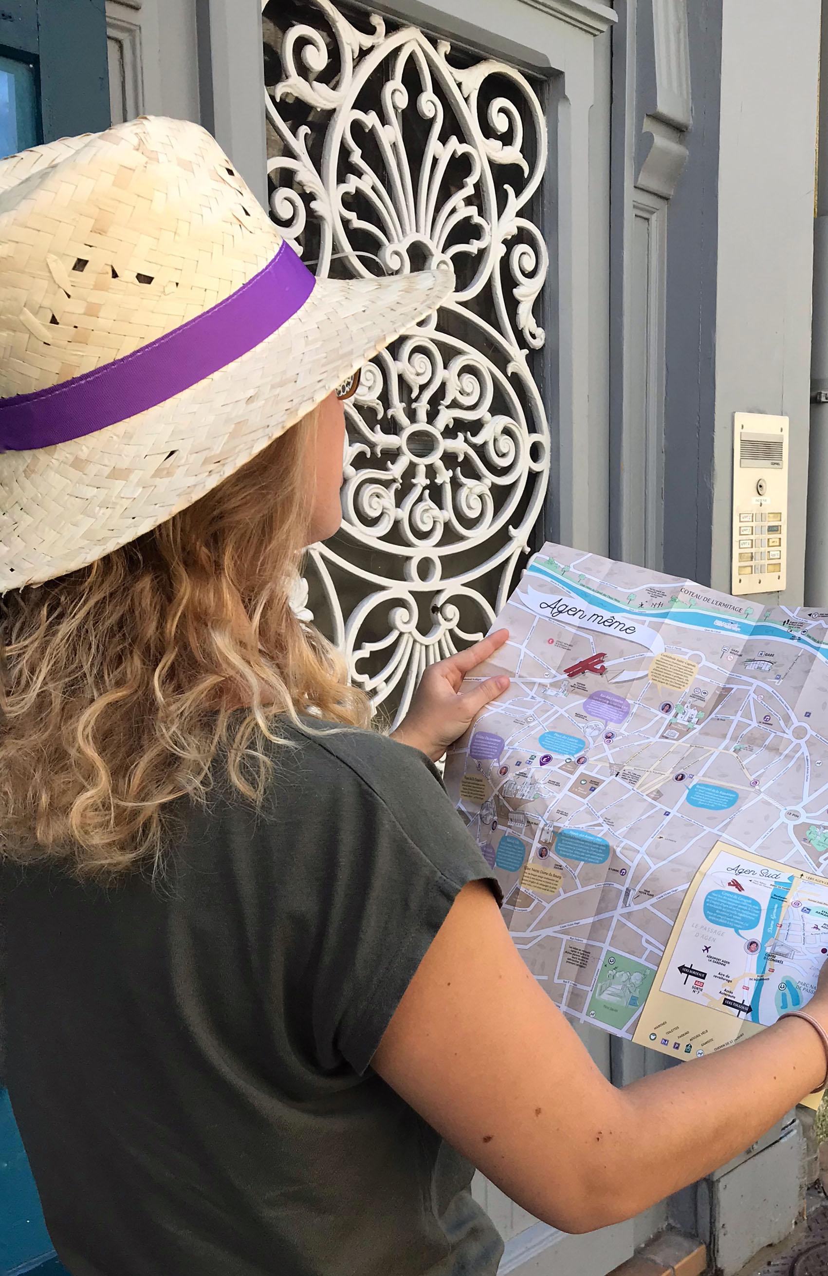 Carte touristique Agen 2019