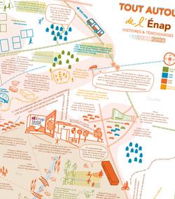 Carte pour les 20 ans de l'Énap - Agen