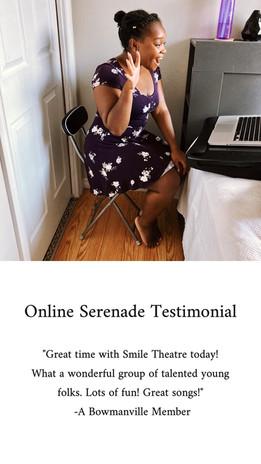 Online Serenade Testimonial