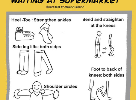 Joint and stretch exercises- Supermarket line
