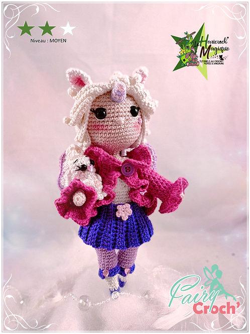 Tutoriel au crochet, amigurumi : Emy la fairy croch' Licorne