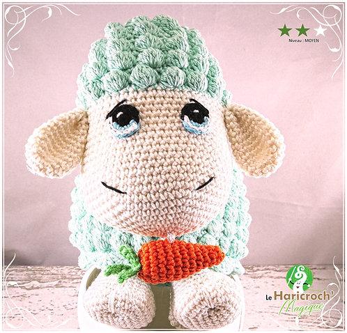 Tutoriel au crochet, amigurumi : Léon le mouton boite à musique