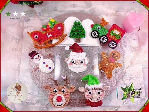 Tutoriel au crochet, amigurumi : Les décos de table Noël