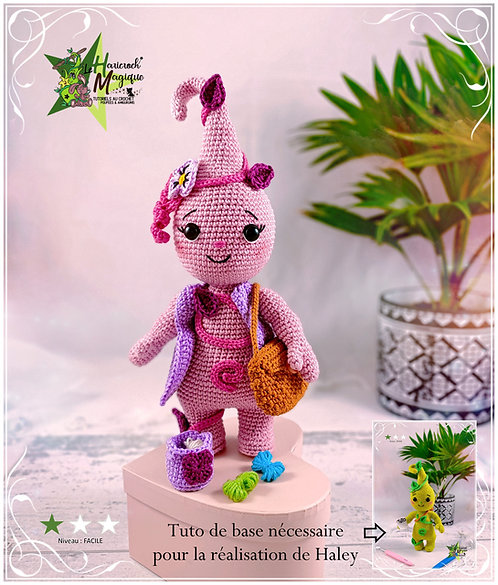 Tutoriel au crochet, amigurumi : Haley la Haricroch'ette ( tuto additionnel)