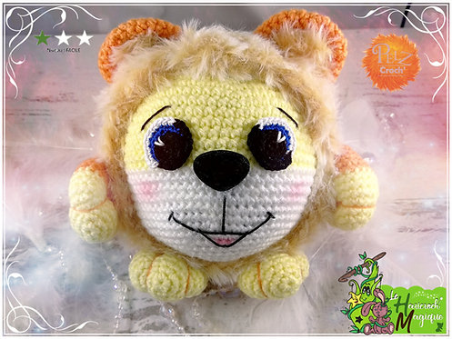 Tutoriel au crochet, amigurumi : le big pelz croch' Marjan le lion