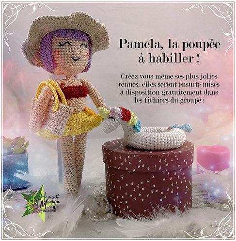 Tutoriel au crochet, amigurumi : Pamela une poupée à habiller