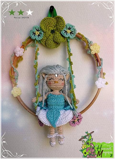 Tutoriel au crochet, amigurumi : Suspension Springa la petite Elfe
