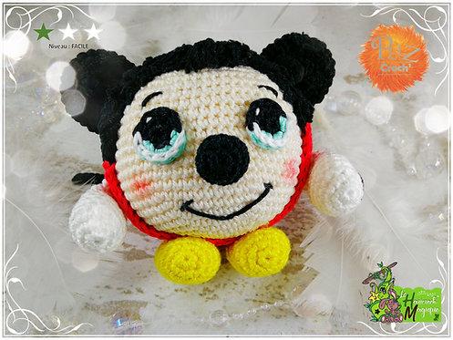 Tutoriel au crochet, amigurumi : Pelz Croch' Micky