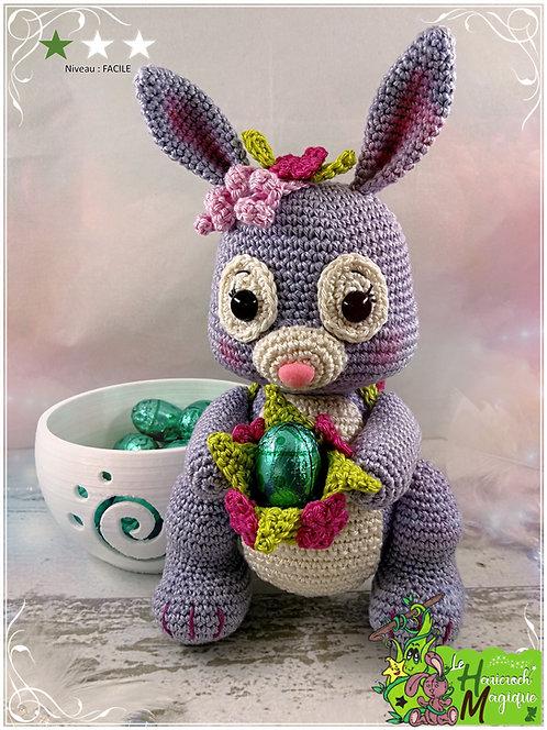 Tutoriel au crochet, amigurumi : Bernie la lapinette de Pâques