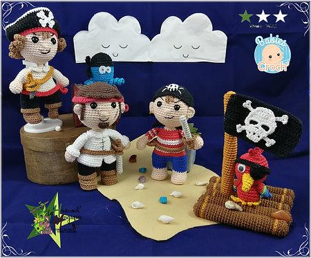 Pack de 2 tutoriels : les babies croch' Pirates 1 et 2