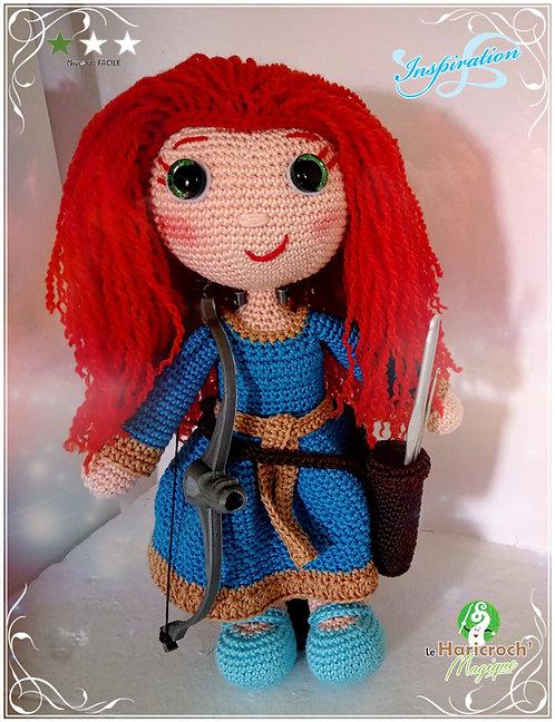 Tutoriel, patron, modèle au crochet, amigurumi, poupée : Inspiration Rebelle