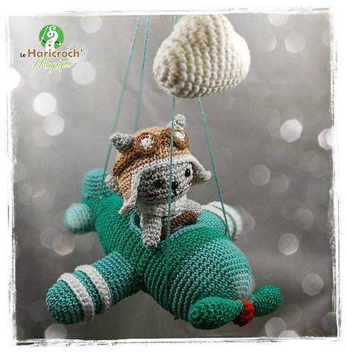 Tutoriel au crochet,amigurumi : L'Avion de Gaston