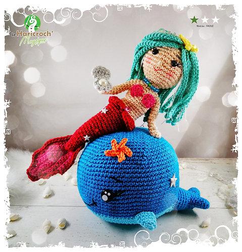 Tutoriel au crochet, amigurumi : Cyrielle et Blue