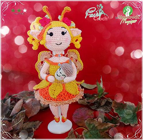 Tutoriel au crochet, fée, amigurumi : Cristalline fairy Croch de l'automne