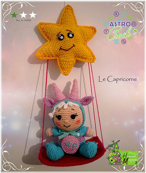 Tutoriel au crochet : L'astro croch' Capricorne