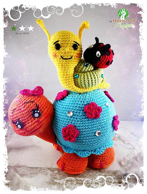 Tutoriel au crochet, amigurumi : Khéops, Kephren et Mykérinos