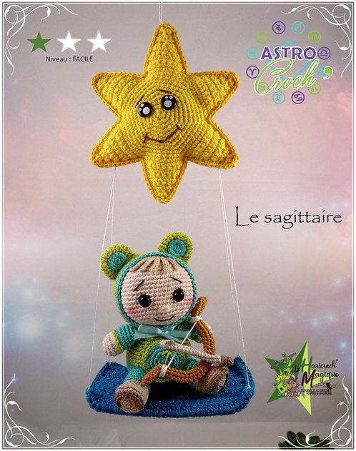 Tutoriel au crochet, amigurumi : l'astro croch'Sagittaire