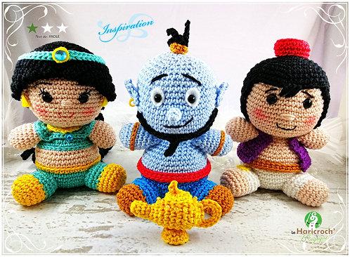 Tutoriel au crochet, amigurumi : Les yummies Aladdin