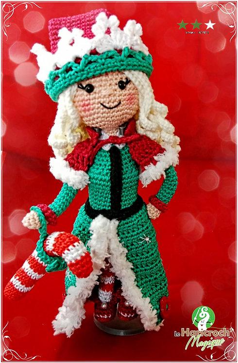 Tutoriel au crochet, amigurumi : Elindyle la reine des lutins de Noël