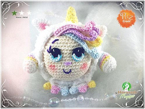 Tutoriel au crochet, amigurumi : Les Pelz Croch'Rosy la licorne