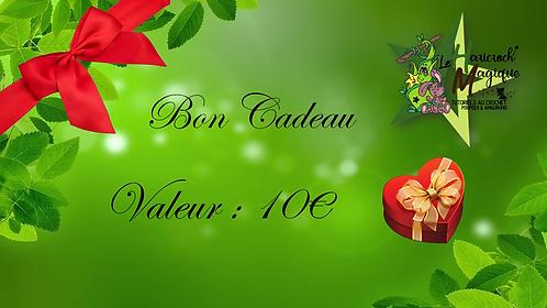 Bon Cadeau Valeur 10€