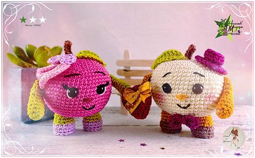 Tutoriel au crochet, amigurumi : Les pommes d'amour Lord John et Lady Pink