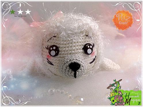 Tutoriel au crochet, amigurumi : Pelz Croch' Myllie le phoque