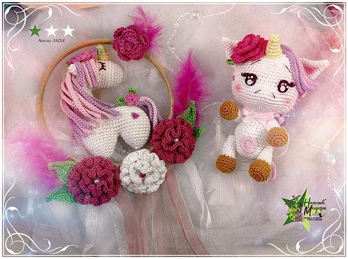 Pack 2 tutoriels : rêve le licorne et Noélie la licorne