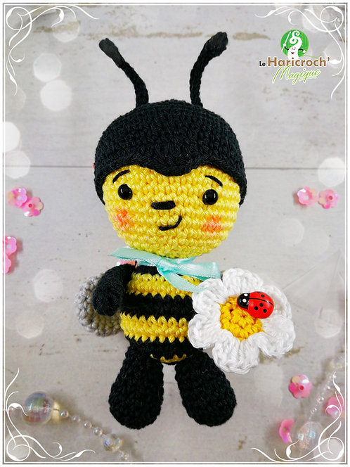 Tutoriel au crochet, amigurumi : Maël l'abeille