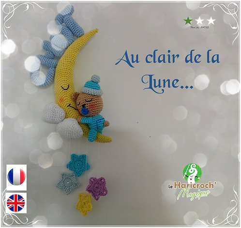 Tutoriel au crochet, amigurumi : Au Clair de la Lune...