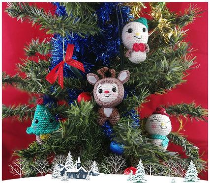 Tutoriel au crochet, amigurumi : Les haricroch'décos de Noël