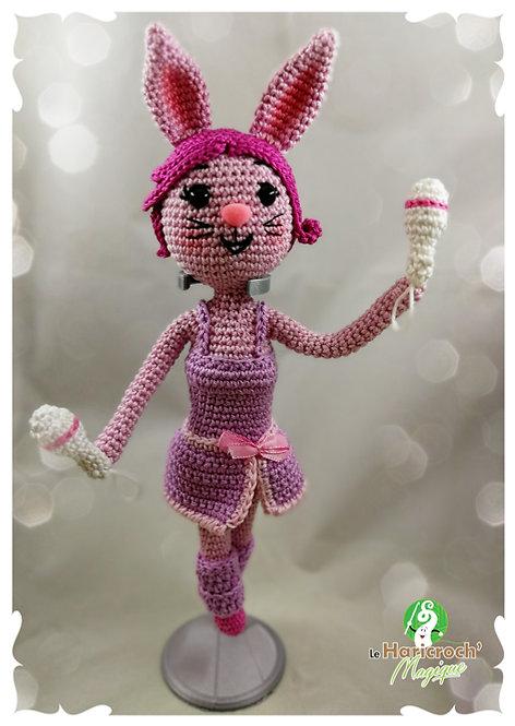 Tutoriel au crochet, amigurumi : Jumpy la lapinette gymnaste