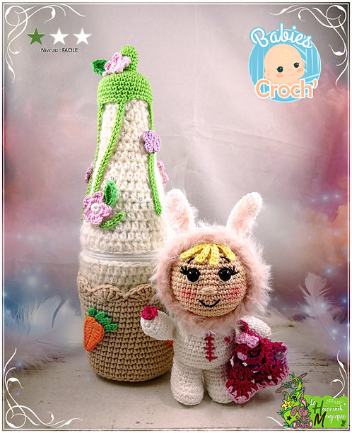Tutoriel au crochet, amigurumi : Baby Croch'Rabbit