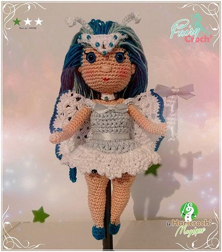 Tutoriel au crochet, amigurumi : Poupée Fairy Croch' de l hiver Hiveriane