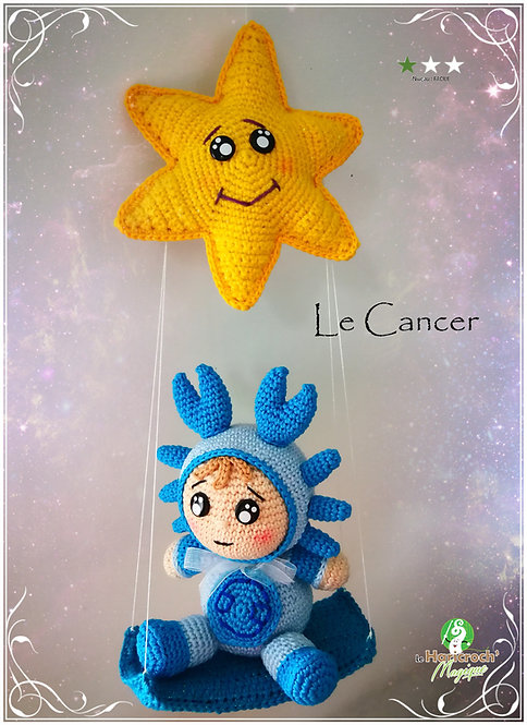 Tutoriel au crochet, amigurumi : Astro Croch' le Cancer