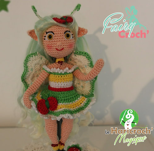Tutoriel au crochet, poupée, amigurumi,  Fairy Croch'de l'été :  Galadriel