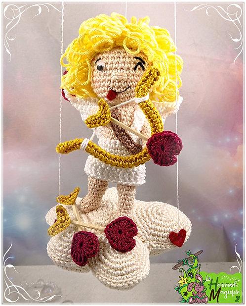 Tutoriel au crochet, amigurumi : Le Cupidon Maladroit