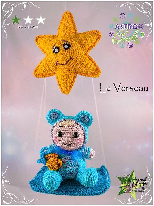 Tutoriel au crochet, amigurumi : L'astro croch' Verseau