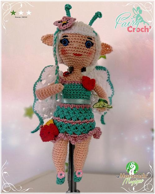 Tutoriel au crochet, poupée, amigurumi, Fairy Croch'du printemps :  Athélia