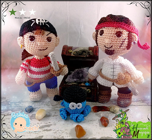 Tutoriel au crochet, amigurumi : Les Baby Croch' Pirates