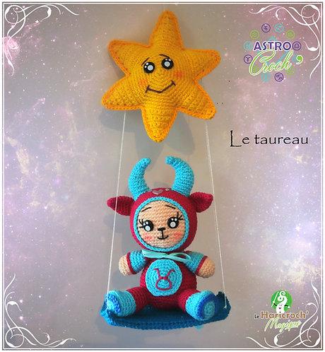 Tutoriel au crochet, amigurumi : Astro Croch' le Taureau
