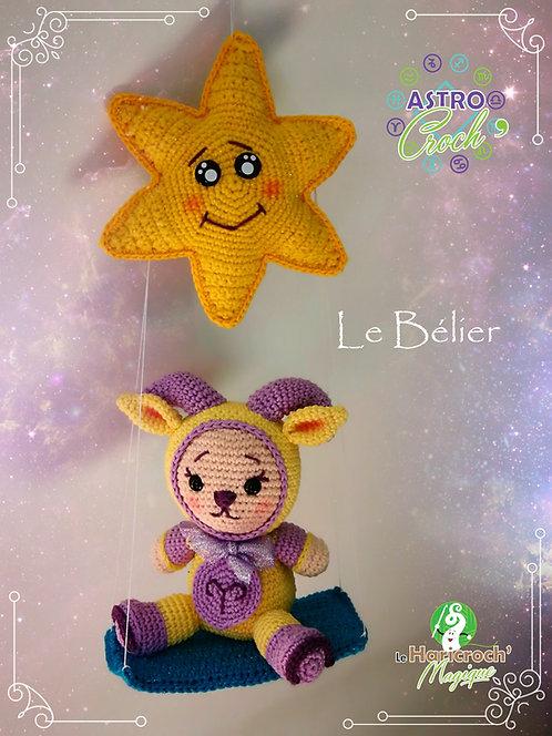 Tutoriel au crochet / amigurumi : Astro Croch'Bélier et sa balançoire étoile