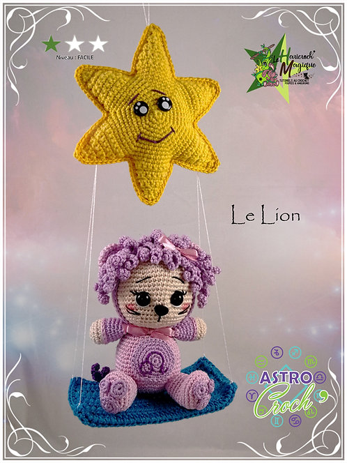 Tutoriel au crochet, amigurumi : Astro Croch' Lion